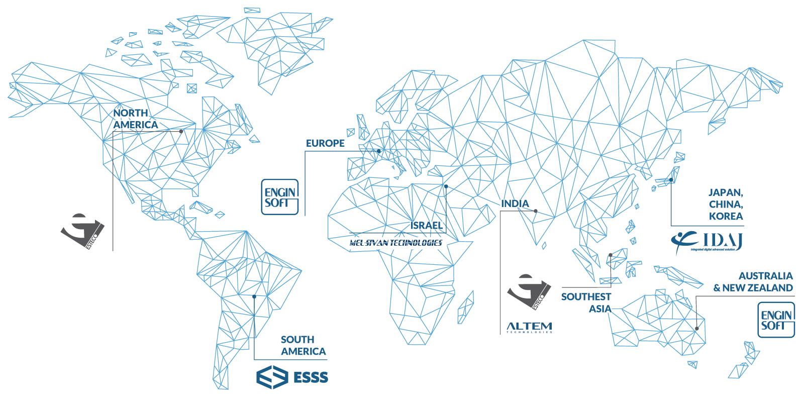 Channel Partners This Is A Very Typical Network Diagram In Shanghai I Was Using Estecos Technology Distributed Throughout The World By Qualified Of Who Provide Proficient Local Service And Support To Our