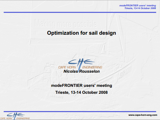 Optimization for sail design | www esteco com