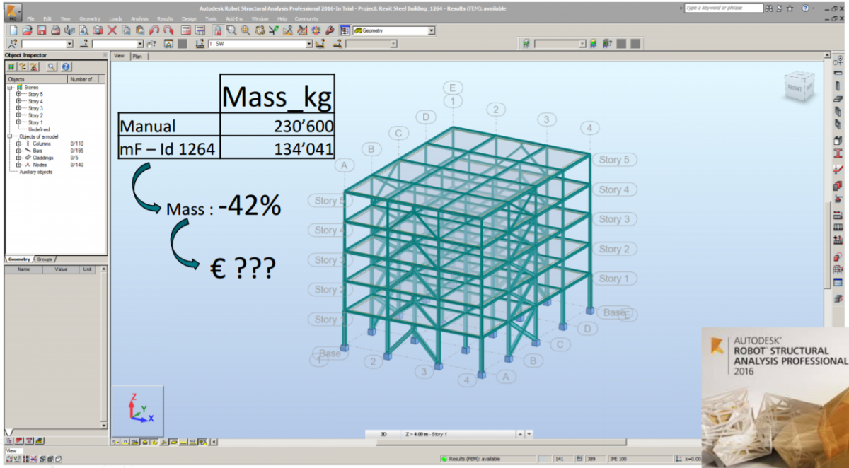 Bim Based Structural Optimization In Building Design Practice Www Esteco Com