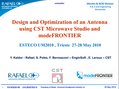 Simulated Using Cst Microwave Studio For Return Loss And Radiation Pattern Performance Initial Simulation Results Matching Over The Full Frequency